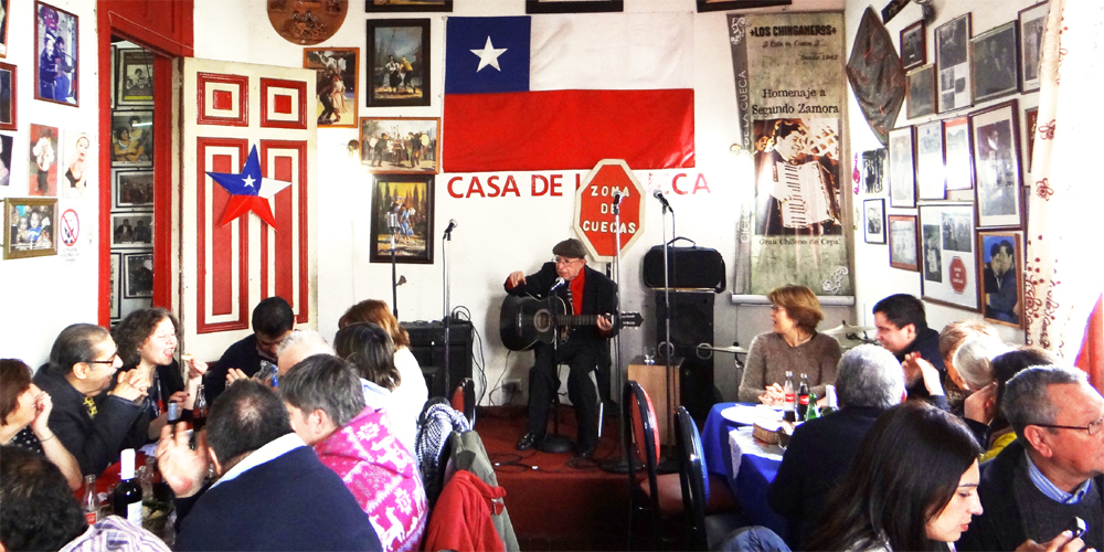 Celebración a la chilena