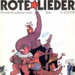 Rote Lieder. 8 Festival des politischen Liedes